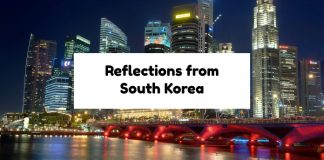 Reflections from South Korea