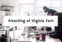 Preaching at Virginia Tech