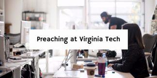 Preaching at Virginia Tech