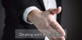 """Dealing with """"Alterations"""""""