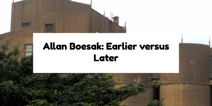 Allan Boesak: Earlier versus Later
