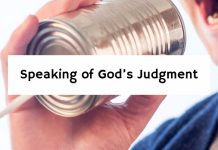 Speaking of God's Judgment
