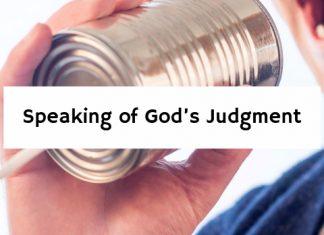 Speaking of God's Judgment