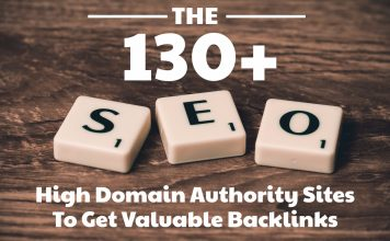 130+ High Domain Authority Sites